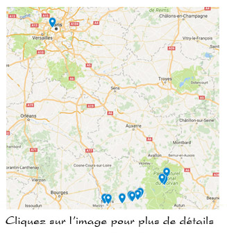 points de vente Bellecomme, google maps